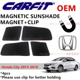 CARFIT OEM Magnetic Custom Fit Sunshade For Honda City Yr 2013-2018 (4pcs Sets)